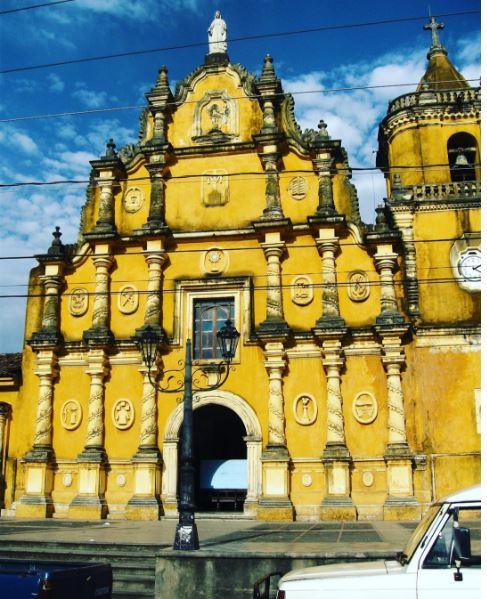 An old Spanish church in León, Nicaragua