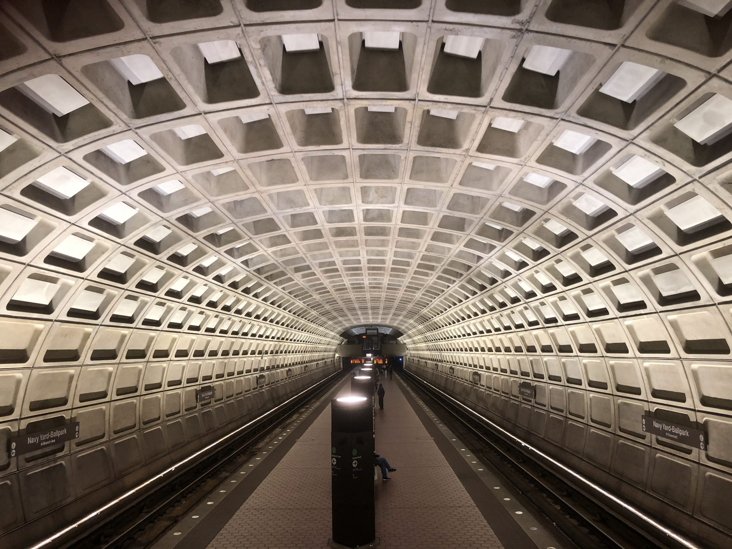 Washington, DC subway tunnel
