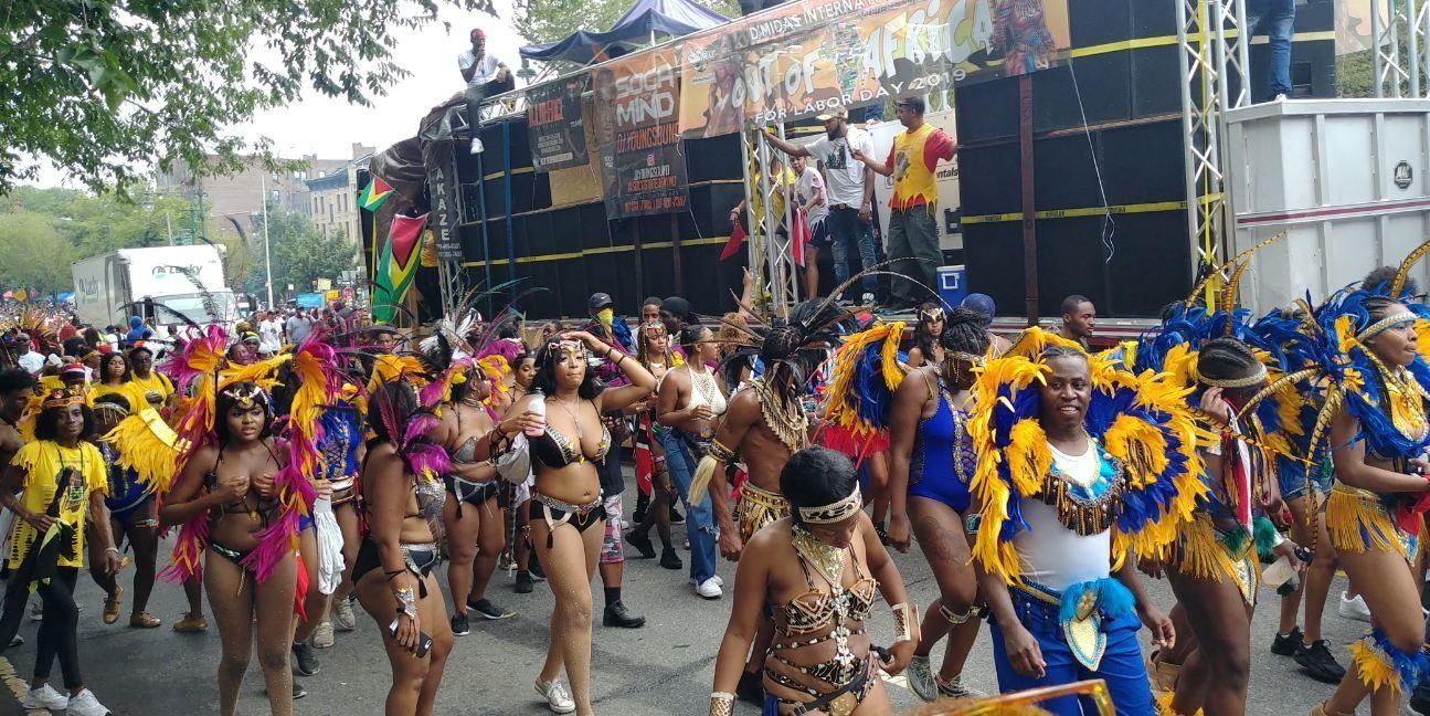 Carnival revelers on Eastern Parkway